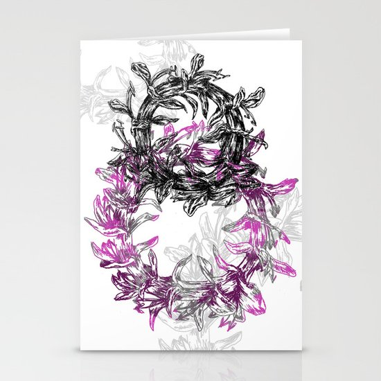 Flowers Circle Stationery Card