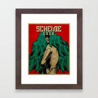 Scheiße Part 3: Protect Yourself From The Scheiße Framed Art Print