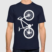 Mountain Bike Charcoal Mens Fitted Tee Navy SMALL