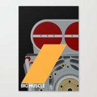 Drive - Big Muscle Canvas Print