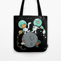 Space Kitty And Captain … Tote Bag