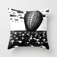Sea Balloon Throw Pillow
