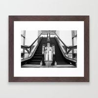 Escalator Becomes Stairs  Framed Art Print