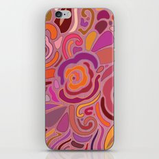 Rose fragments, pink, purple and orange iPhone & iPod Skin