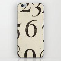 Vintage Numbers iPhone & iPod Skin