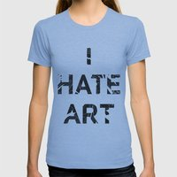 I HATE ART / PAINT Womens Fitted Tee Athletic Blue SMALL