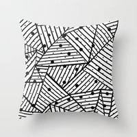 Abstract Spots Close Up Throw Pillow