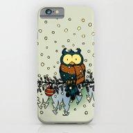 Owl In The Snow V2 iPhone 6 Slim Case