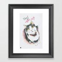 Hey! What's Up? Framed Art Print