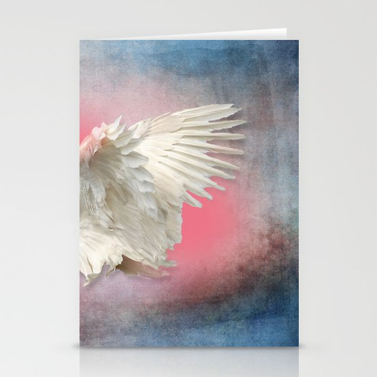 Lost Angel Wing Stationery Card