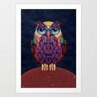 owl Art Prints featuring OWL 2 by Ali GULEC