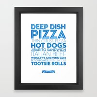 Chicago — Delicious Ci… Framed Art Print