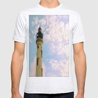 Cloudy at the Lighthouse Mens Fitted Tee Ash Grey SMALL