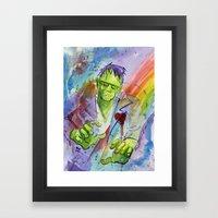 Friend Frankenstein Framed Art Print