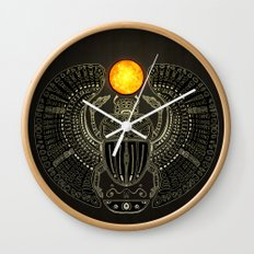 Sacred Scarab (v2) Wall Clock