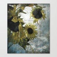 Autumnal Sunflowers Canvas Print