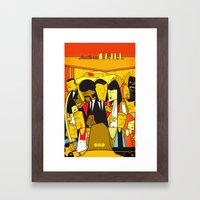 Pulp Fiction (variant aspect ratio) Framed Art Print