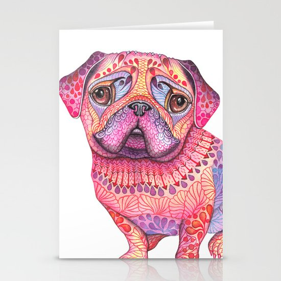 Pugberry Stationery Card