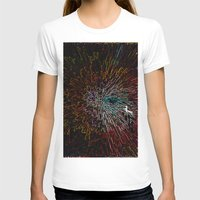 Digital Art Abstract Womens Fitted Tee White SMALL