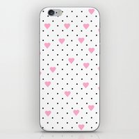 Pin Point Hearts Pink iPhone & iPod Skin