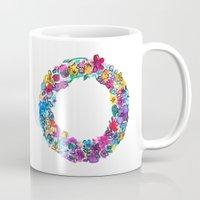 O Letter Floral Mug