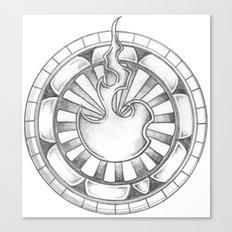 Flame Circle Canvas Print