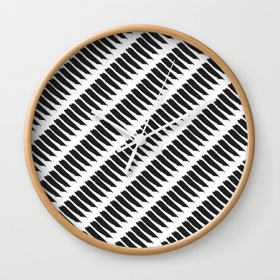 Black and white tiger stripes wall clock by pencil me in - Tiger stripes black and white ...