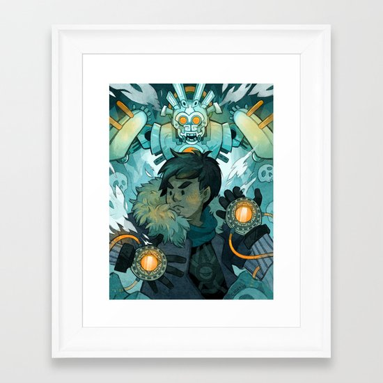 Aztec Gundam Framed Art Print