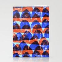 Press print semi-circle pattern. Stationery Cards