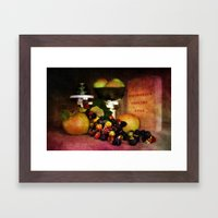In The Kitchen. Framed Art Print