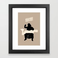 Empire strikes back Framed Art Print