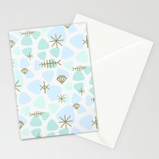 Mod fish mobile Stationery Cards
