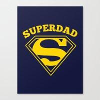 Superdad | Superhero Dad Gift Canvas Print