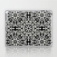 Black & White Folk Art Pattern Laptop & iPad Skin