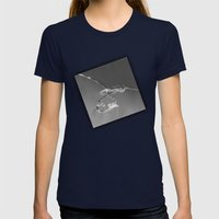 Rope in water Womens Fitted Tee Navy SMALL