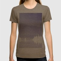 Bay Bridge San Francisco Womens Fitted Tee Tri-Coffee SMALL