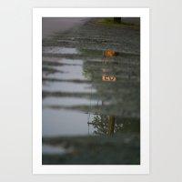 Reflections of speeding Art Print