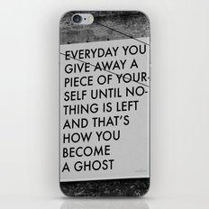 HOW TO BECOME A GHOST iPhone & iPod Skin