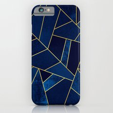 Blue stone with yellow lines iPhone 6 Slim Case