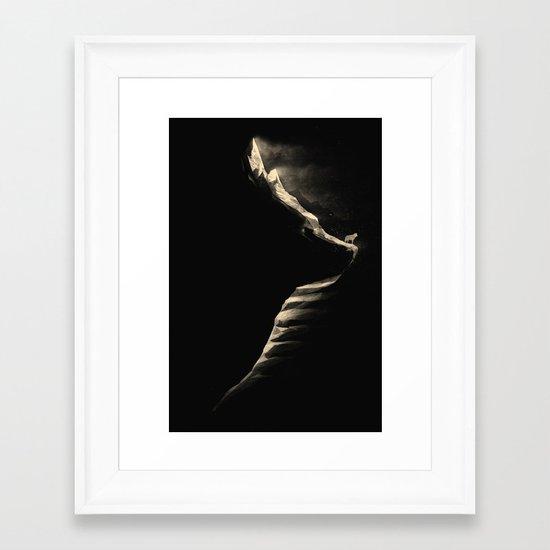 The Mountain Wolf Framed Art Print