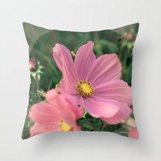 Wild flower in pink Throw Pillow