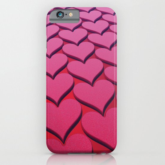 Textured 3D Heart Pattern iPhone & iPod Case
