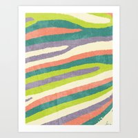 Fruit Stripes. Art Print