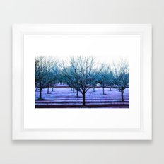 Turquoise Trees Periwink… Framed Art Print