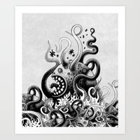 Dark Octoworm Art Print