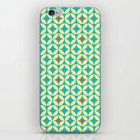 Repeated Retro - turquoise iPhone & iPod Skin