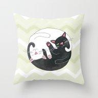 Throw Pillow featuring Cat Philosophy by Emily Andrus Lopuch