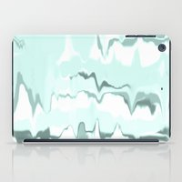 Marbled in mint iPad Case