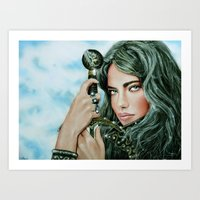 Warrior girl Art Print
