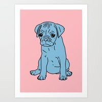 Sad Puppy, 2013. Art Print